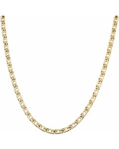 Pre-Owned 9ct Gold 18 Inch Punched Anchor Link Chain Necklace