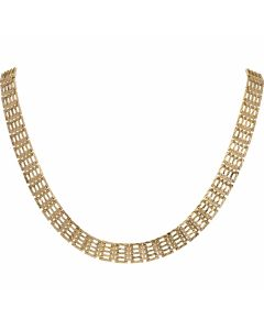 PreOwned 9ct Yellow Gold 16 Inch Gate Link Necklet