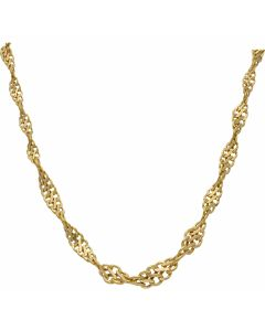 Pre-Owned 9ct Gold 19 Inch Graduated Hollow Twist Necklace