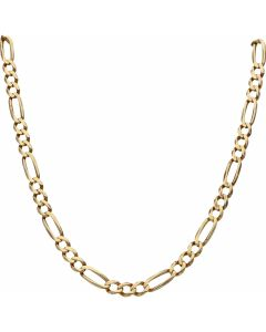 Pre-Owned 9ct Yellow Gold 25 Inch Figaro Chain Necklace
