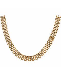 Pre-Owned 9ct Yellow Gold 17 Inch Brick Link Necklet