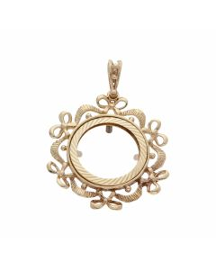 Pre-Owned 9ct Yellow Gold Half Sovereign Coin Pendant Mount