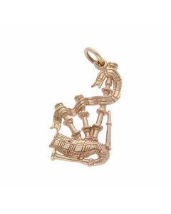 Pre-Owned 9ct Yellow Gold Bagpipes Charm