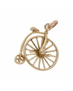 Pre-Owned 9ct Yellow Gold Penny Farthing Charm