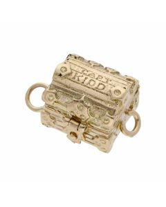 Pre-Owned 9ct Yellow Gold Opening Treasure Chest Charm