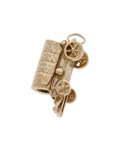 Pre-Owned 9ct Yellow Gold Cart Charm