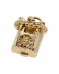 Pre-Owned 9ct Yellow Gold Opening Luv 2 Talk Telephone Charm