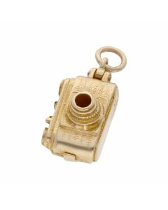 Pre-Owned 9ct Yellow Gold Opening Camera Charm