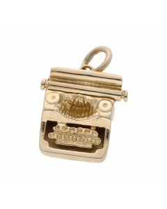 Pre-Owned 9ct Yellow Gold Typewriter Charm