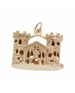 Pre-Owned 9ct Yellow Gold Castle Tower & Turret Charm