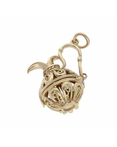 Pre-Owned 9ct Yellow Gold Filigree Jug Charm