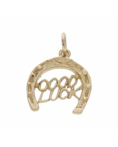 Pre-Owned 9ct Yellow Gold Good Luck Horseshoe Charm