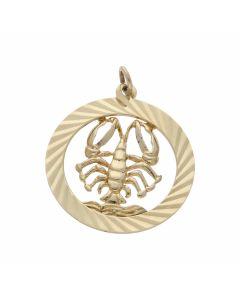Pre-Owned 9ct Yellow Gold Scorpio Horoscope Pendant