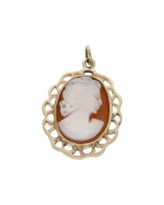 Pre-Owned 9ct Yellow Gold Oval Cameo Pendant
