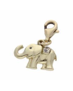 Pre-Owned 14ct Yellow Gold Hook-On Elephant Charm