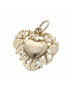 Pre-Owned 9ct Gold Lightweight Special Friend Heart Pendant