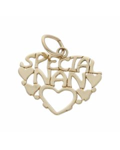 Pre-Owned 9ct Yellow Gold Lightweight Special Nan Heart Pendant