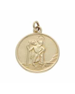 Pre-Owned 9ct Yellow Gold St.Christopher Pendant