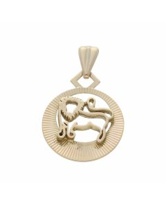 Pre-Owned 9ct Yellow Gold Leo Lion Horoscope Pendant