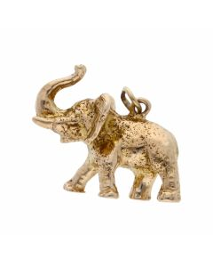 Pre-Owned 9ct Yellow Gold Solid Elephant Charm