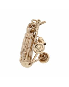 Pre-Owned 9ct Yellow Gold Golf Clubs Charm