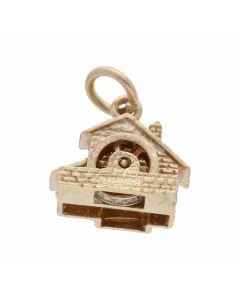 Pre-Owned 9ct Yellow Gold Watermill Charm