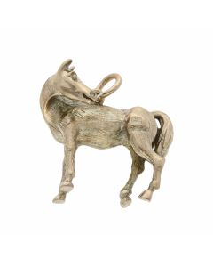 Pre-Owned 9ct Yellow Gold Solid Horse Charm Pendant