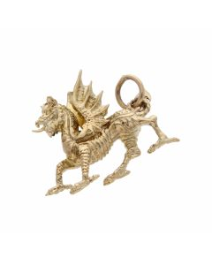 Pre-Owned 9ct Yellow Gold Dragon Charm