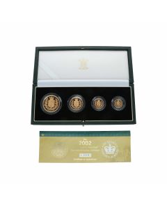 Pre-Owned 2002 The Queens Golden Jubilee 4 Coin Collection