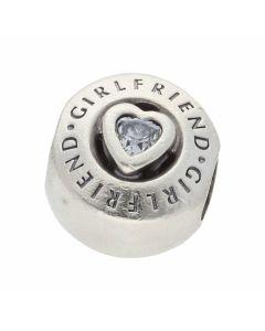 Pre-Owned Pandora Silver Gemstone Set Girlfriend Charm