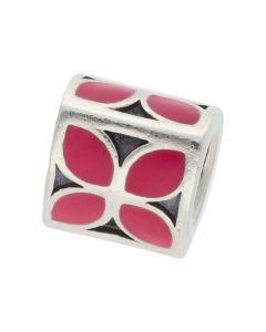 Pre-Owned Pandora Silver & Enamel Pink Petal Charm