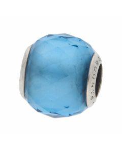 Pre-Owned Pandora Silver Blue Bead Charm