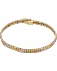 Pre-Owned 18ct Yellow Rose & White Gold 7.5 Inch Fancy Bracelet