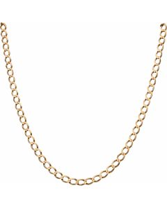 Pre-Owned 9ct Yellow Gold 19 Inch Curb Chain Necklace