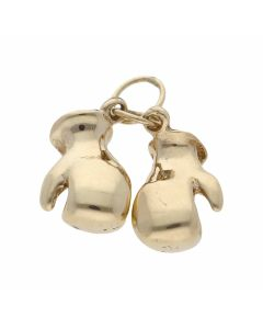 Pre-Owned 9ct Yellow Gold Double Boxing Glove Pendant