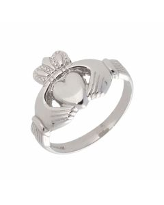 Pre-Owned 9ct White Gold Claddagh Ring