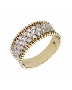 Pre-Owned 9ct Yellow Gold Cubic Zirconia Band Dress Ring