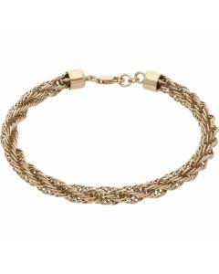Pre-Owned 9ct Yellow Gold 7.5 Inch Fancy Twist Bracelet