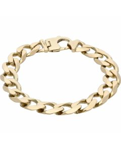 Pre-Owned 9ct Yellow Gold 8.2 Inch Heavy Curb Bracelet