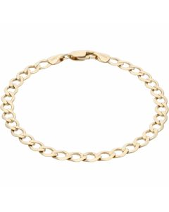 Pre-Owned 9ct Yellow Gold 7.3 Inch Curb Bracelet