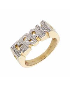 New 9ct Yellow Gold Cubic Zirconia Gran Ring