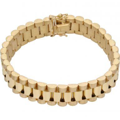 New 9ct Yellow Gold 7 Inch 12mm Width Rolex Style Bracelet 1oz