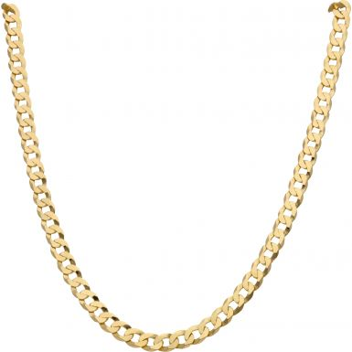 New 9ct Yellow Gold 28 Inch Solid Curb Link Chain Necklace 26g