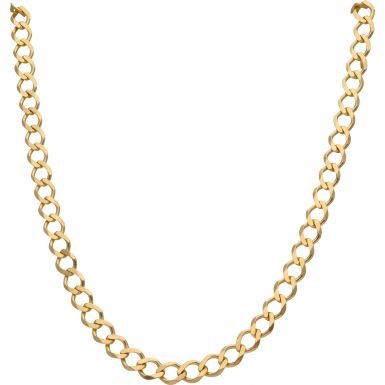New 9ct Yellow Gold 26 Inch Solid Curb Link Chain Necklace 30.9g