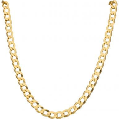 New 9ct Yellow Gold 24 Inch Solid Curb Chain Necklace 1.oz