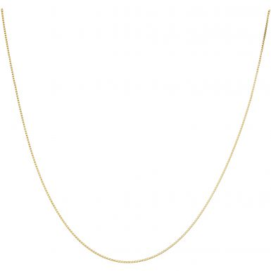 """New 9ct Yellow Gold 18"""" Venetian Box Link Chain Necklace"""