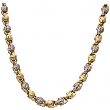 New 9ct Gold 26 Inch Cubic Zirconia Tulip/Belcher Chain 3.9oz