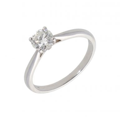 New 18ct White Gold 0.61ct Diamond Solitaire Ring