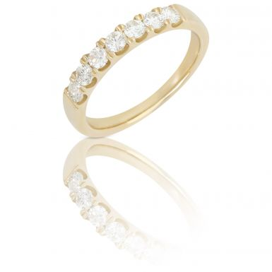 New 9ct Gold 0.55ct Diamond 7 Stone Eternity Ring