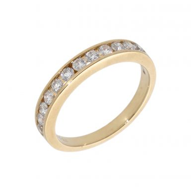 New 9ct Yellow Gold 0.50ct Diamond Channel Set Eternity Ring